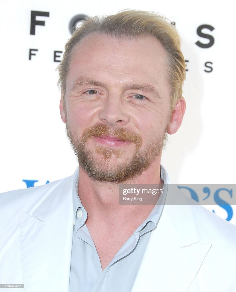 Actor <a gi-track='captionPersonalityLinkClicked' href=/galleries/search?phrase=Simon+Pegg&family=editorial&specificpeople=206280 ng-click='$event.stopPropagation()'>Simon Pegg</a> arrives at the Los Angeles Premiere 'The World's End' on August 21, 2013 at ArcLight Cinemas Cinerama Dome in Hollywood, California.