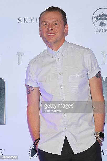 Actor Simon Pegg attends a Photocall Press Conference during the promotional tour of the Paramount Pictures title 'Star Trek Beyond' at the St Regis...