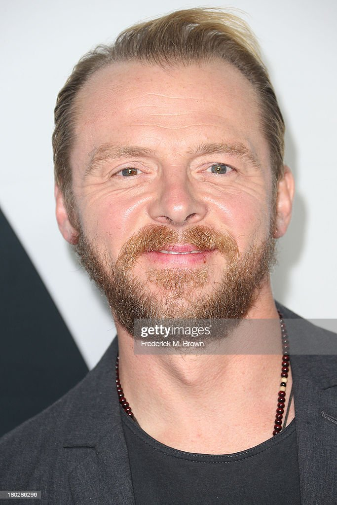 Actor Simon Pegg attends 'Star Trek Into Darkness' Blu-ray/DVD Release Event at the California Science Center on September 10, 2013 in Los Angeles, California.