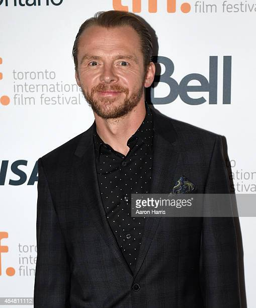 Actor Simon Pegg attends the 'Kill Me Three Times' premiere during the 2014 Toronto International Film Festival at Scotiabank Theatre on September 6...