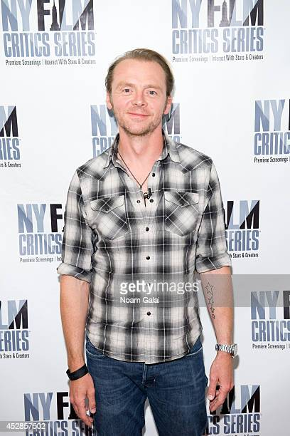 Actor Simon Pegg attends the New York Film Critics Series screening of 'Hector And The Search For Happiness' at AMC Empire 25 theater on July 28 2014...