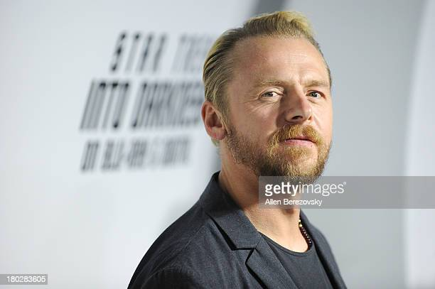 Actor Simon Pegg attends the Paramount Pictures' celebration of the BluRay and DVD debut of 'Star Trek Into Darkness' at California Science Center on...