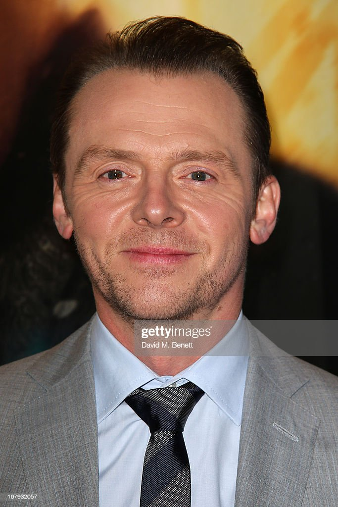 Actor <a gi-track='captionPersonalityLinkClicked' href=/galleries/search?phrase=Simon+Pegg&family=editorial&specificpeople=206280 ng-click='$event.stopPropagation()'>Simon Pegg</a> attends the UK Premiere of 'Star Trek Into Darkness' at The Empire Cinema on May 2, 2013 in London, England.
