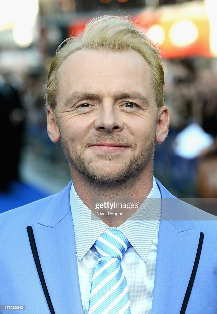 Actor <a gi-track='captionPersonalityLinkClicked' href=/galleries/search?phrase=Simon+Pegg&family=editorial&specificpeople=206280 ng-click='$event.stopPropagation()'>Simon Pegg</a> attends 'The World's End' world premiere at the Empire Leicester Square on July 10, 2013 in London, England.