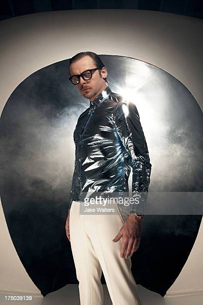 Actor Simon Pegg is photographed for ES magazine on April 23 2013 in London England