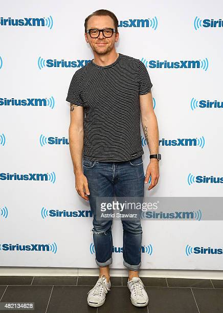 Actor Simon Pegg visits the SiriusXM Studios on July 27 2015 in New York City