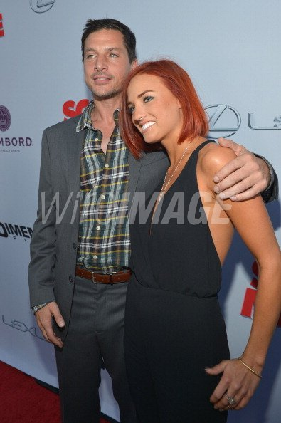 Actor Simon Rex And Lauren Stout Arrive At The Premiere Of Scary Movie Wireimage 166369793