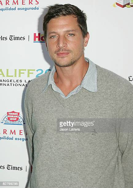 Actor Simon Rex attends the Los Angeles Latino International Film Festival opening night gala at Graumman's Chinese Theater on September 12 2008 in...