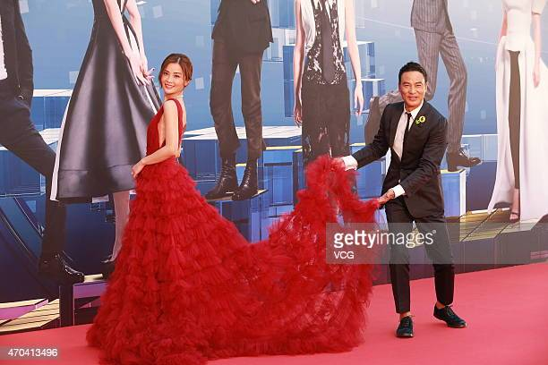 Actor Simon Yam and actress Charlene Choi arrive at the red carpet for the 34th Hong Kong Film Awards at Hong Kong Cultural Centre on April 19 2015...