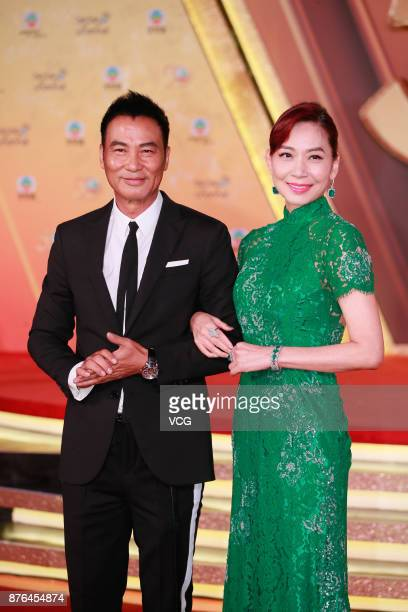 Actor Simon Yam Tatwah poses on red carpet of the TVB 50th Anniversary Ceremony on November 19 2017 in Hong Kong China