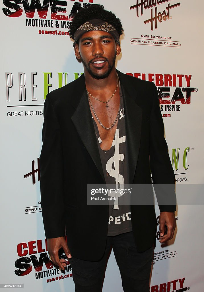 Actor / Singer <a gi-track='captionPersonalityLinkClicked' href=/galleries/search?phrase=Brandon+Mychal+Smith+-+Actor&family=editorial&specificpeople=5725568 ng-click='$event.stopPropagation()'>Brandon Mychal Smith</a> attends Evander Holyfield's ESPYS Awards after party on July 16, 2014 in Los Angeles, California.