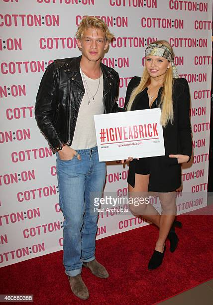 Actor / Singer Cody Simpson and his Sister Actress / Singer Alli Simpson join Australian brand Cotton On for their holiday charity campaign 'I Give A...