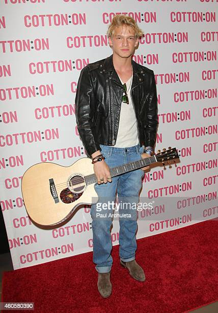 Actor / Singer Cody Simpson joins Australian brand Cotton On for their holiday charity campaign 'I Give A Brick' at Cotton on USA on December 16 2014...