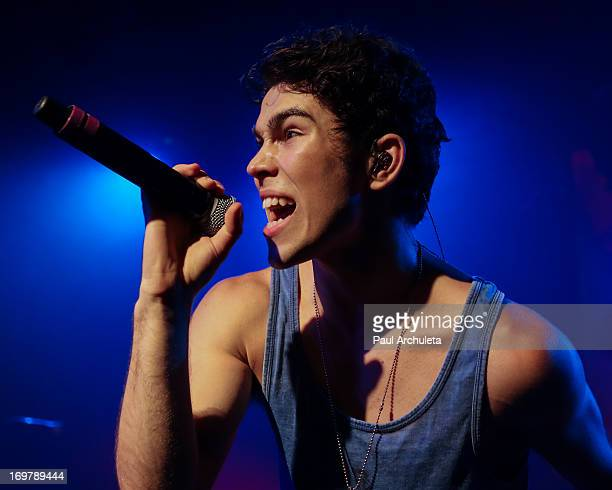 Actor / Singer Max Schneider performs in concert to kicks off his 'Nothing Without Love' summer tour at The Roxy Theatre on June 1 2013 in West...