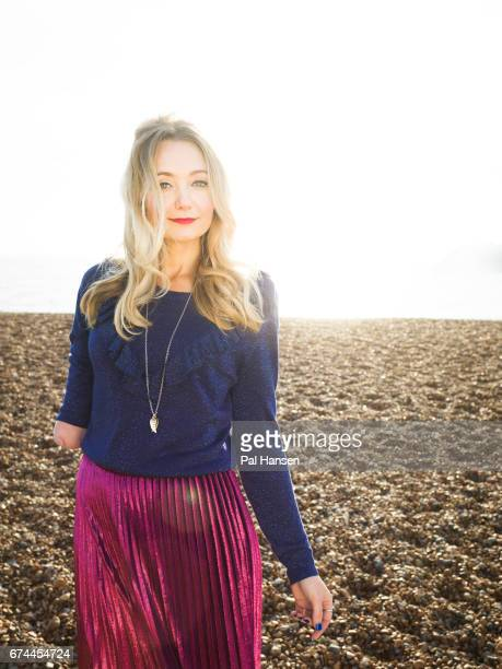 Actor singer playwright children's author and television presenter Cerrie Burnell is photographed for Psychologies magazine on December 11 2016 in...