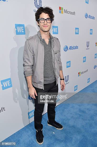 Actor singer songwriter and musician Darren Criss attends WE Day California 2016 at The Forum on April 7 2016 in Inglewood California