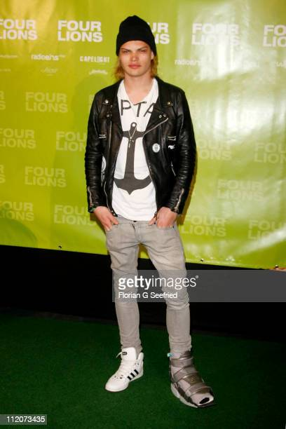 Actor singer Wilson Gonzalez Ochsenknecht with cuff attends the Germany Premiere of 'Four Lions' at cinema Kulturbrauerei on April 12 2011 in Berlin...
