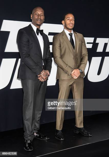 Actor/ singersongwriter Tyrese Gibson and actor/hip hop recording artist Ludacris attend 'The Fate Of The Furious' New York Premiere at Radio City...