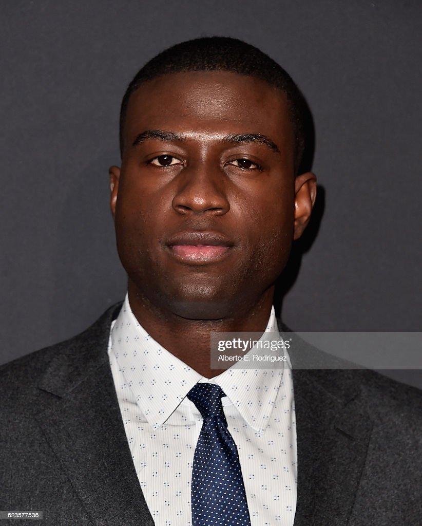 Actor Sinqua Walls attends Prada Presents 'Past Forward' by David O. Russell premiere at Hauser Wirth & Schimmel on November 15, 2016 in Los Angeles, California.