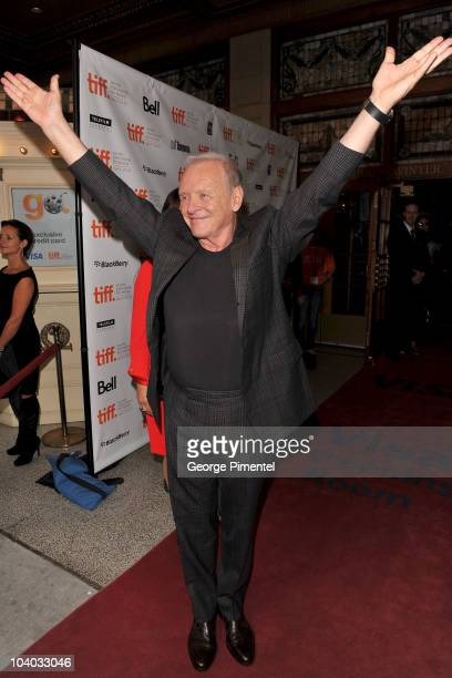Actor Sir Anthony Hopkins attends the 'You Will Meet A Tall Dark Stranger' Premiere held at the Visa Screening Room At The Elgin Theatre during the...