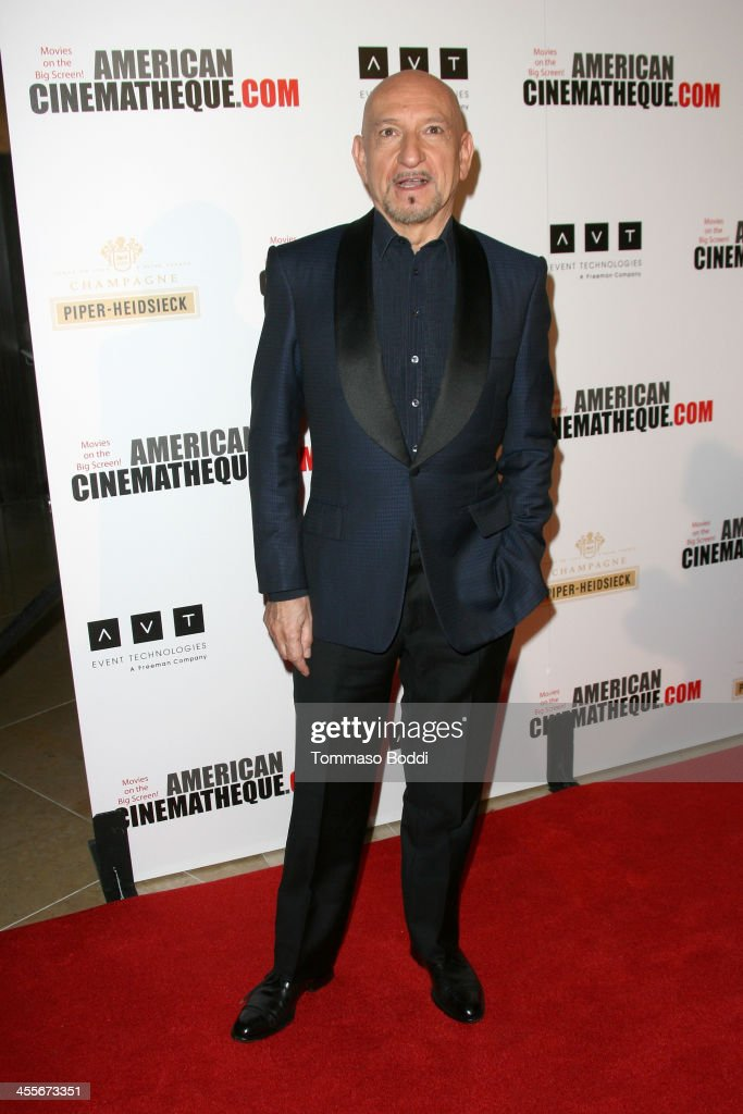Actor <a gi-track='captionPersonalityLinkClicked' href=/galleries/search?phrase=Sir+Ben+Kingsley&family=editorial&specificpeople=699878 ng-click='$event.stopPropagation()'>Sir Ben Kingsley</a> arrives at the 27th American Cinematheque Award honoring Jerry Bruckheimer at The Beverly Hilton Hotel on December 12, 2013 in Beverly Hills, California.