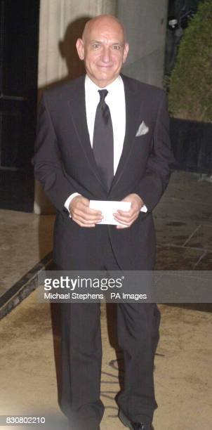 Actor Sir Ben Kingsley arrives for the Evening Standard Film Awards 2002 at The Savoy in London The annual awards recognise the achievements in...