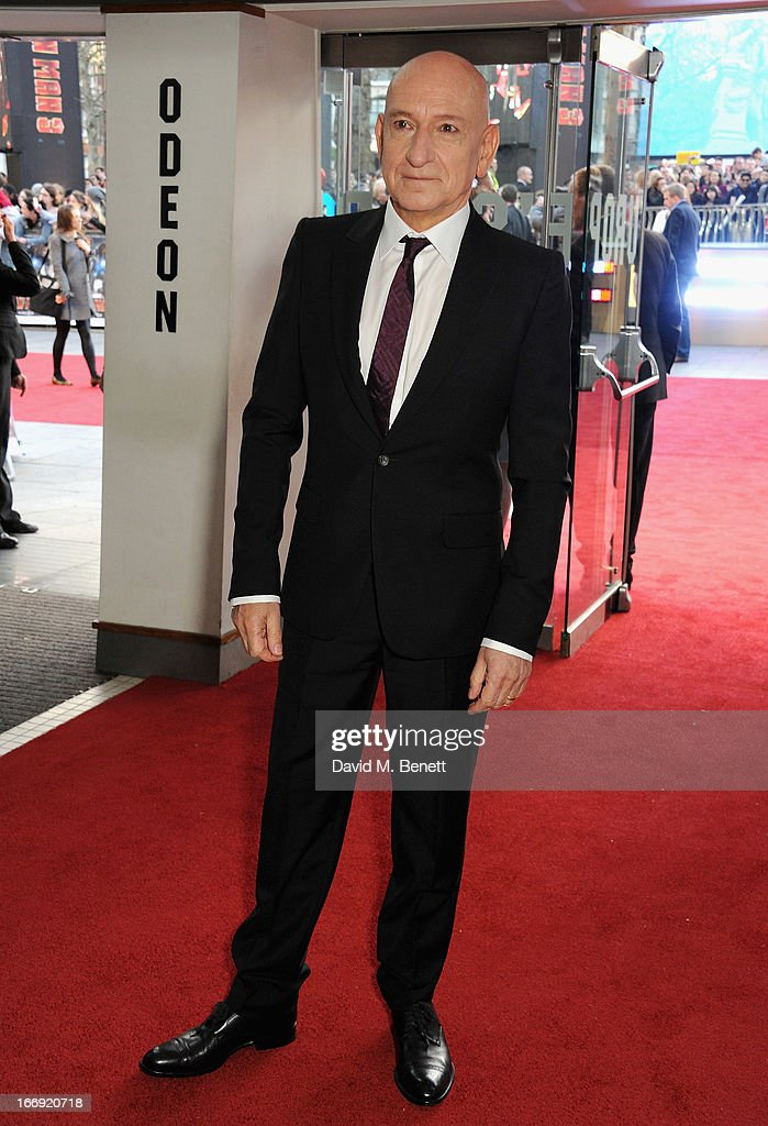 Actor <a gi-track='captionPersonalityLinkClicked' href=/galleries/search?phrase=Sir+Ben+Kingsley&family=editorial&specificpeople=699878 ng-click='$event.stopPropagation()'>Sir Ben Kingsley</a> attends the 'Iron Man 3' Special Screening at the Odeon Leicester Square on April 18, 2013 in London, England.