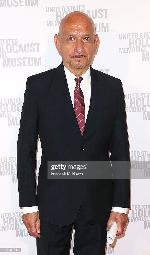 Actor <a gi-track='captionPersonalityLinkClicked' href=/galleries/search?phrase=Sir+Ben+Kingsley&family=editorial&specificpeople=699878 ng-click='$event.stopPropagation()'>Sir Ben Kingsley</a> attends the United States Holocaust Memorial Museum Presents '2014 Los Angeles Dinner: What You Do Matters' at The Beverly Hilton Hotel on March 6, 2014 in Beverly Hills, California.
