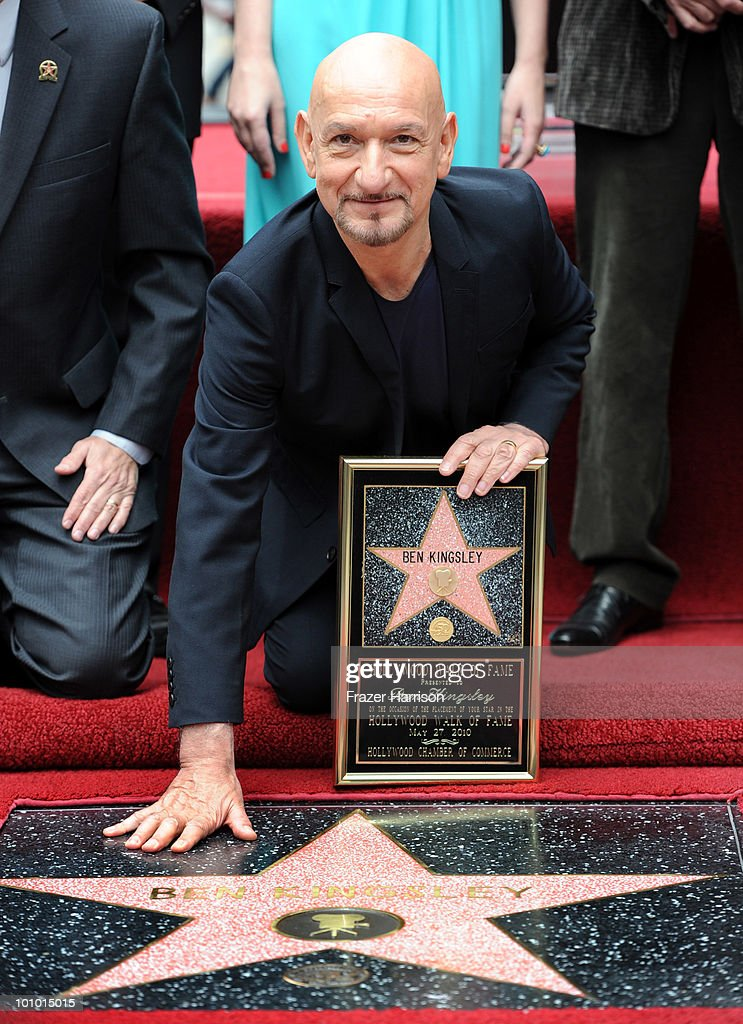 Actor Sir Ben Kingsley honored with the 2,410th Star on the Hollywood Walk of Fame on May 27, 2010 in Hollywood, California.