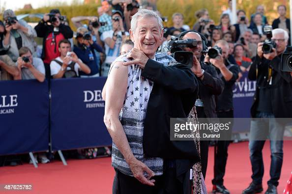 Actor Sir Ian McKellen arrives at the 'Mr Holmes' Premiere during the 41st Deauville American Film Festival on September 10 2015 in Deauville France