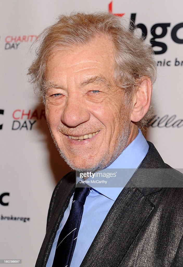 Actor Sir <a gi-track='captionPersonalityLinkClicked' href=/galleries/search?phrase=Ian+McKellen&family=editorial&specificpeople=202983 ng-click='$event.stopPropagation()'>Ian McKellen</a> attends the annual charity day hosted by Cantor Fitzgerald and BGC at the BGC office on September 11, 2013 in New York City.