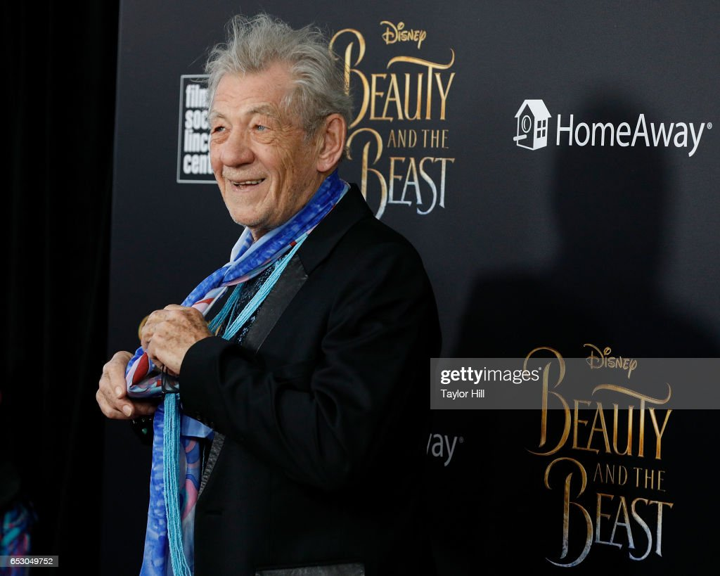Actor Sir Ian McKellen attends the 'Beauty and the Beast' New York screening at Alice Tully Hall, Lincoln Center on March 13, 2017 in New York City.