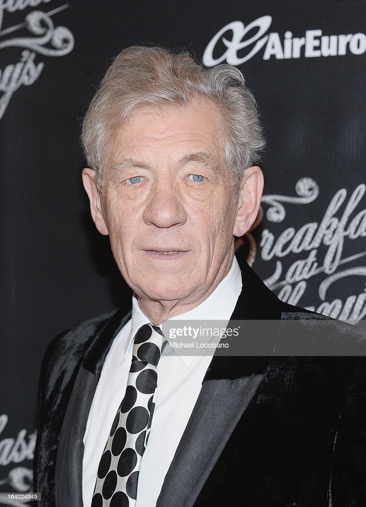 Actor Sir Ian McKellen attends the 'Breakfast At Tiffany's' Broadway Opening Night at Cort Theatre on March 20, 2013 in New York City.