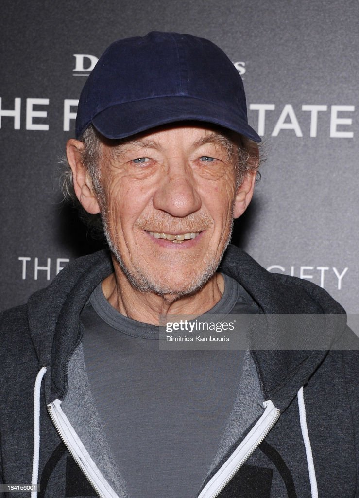 Actor Sir <a gi-track='captionPersonalityLinkClicked' href=/galleries/search?phrase=Ian+McKellen&family=editorial&specificpeople=202983 ng-click='$event.stopPropagation()'>Ian McKellen</a> attends The Cinema Society with Vanity Fair & Richard Mille screening of DreamWorks Pictures' 'The Fifth Estate' at the Crosby Street Hotel on October 11, 2013 in New York City.