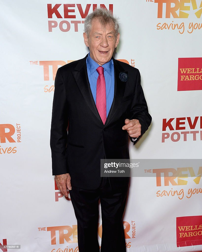 Actor Sir <a gi-track='captionPersonalityLinkClicked' href=/galleries/search?phrase=Ian+McKellen&family=editorial&specificpeople=202983 ng-click='$event.stopPropagation()'>Ian McKellen</a> attends TrevorLIVE New York 2015 at Marriott Marquis Hotel on June 15, 2015 in New York City.
