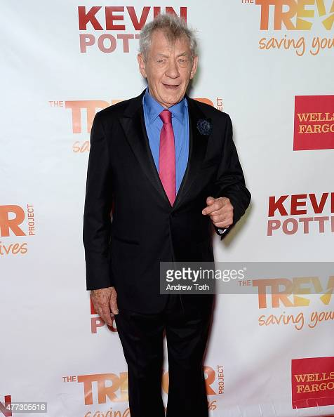 Actor Sir Ian McKellen attends TrevorLIVE New York 2015 at Marriott Marquis Hotel on June 15 2015 in New York City