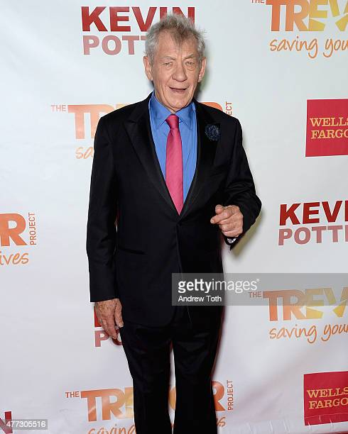 Actor Sir Ian McKellen attends TrevorLIVE New York 2015 at Marriott Marquis Hotel on June 15 2015 in New York City