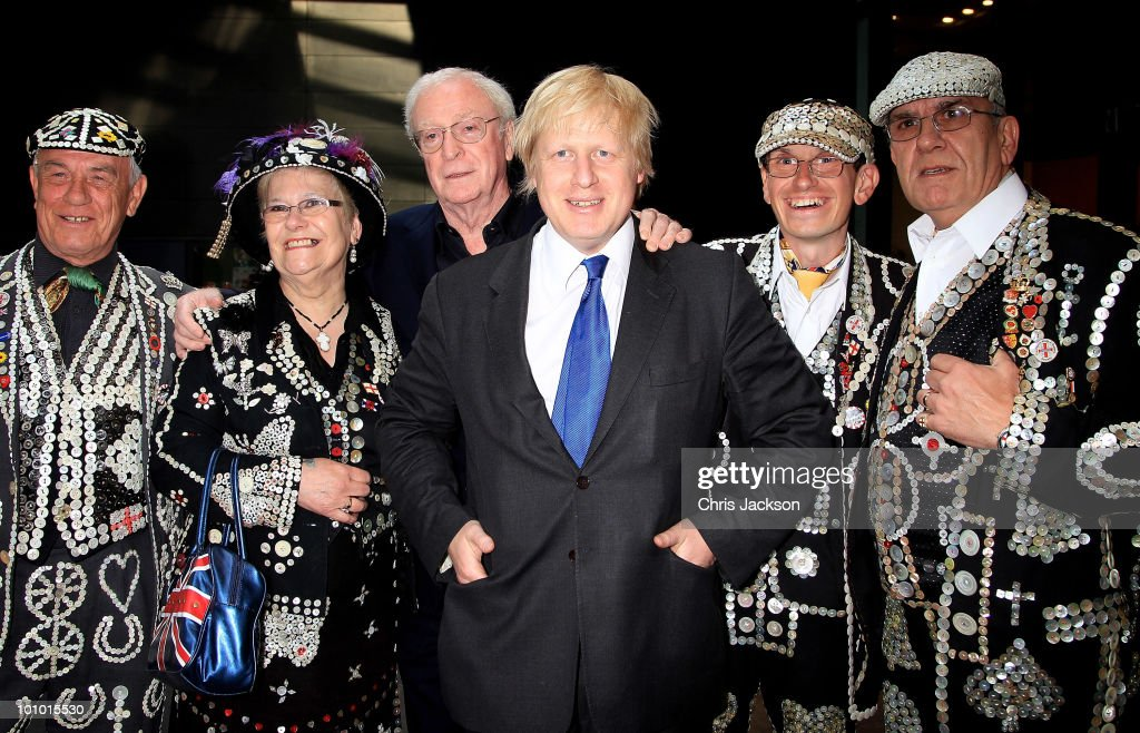 Actor Sir Michael Caine and Boris Johnson attend The Galleries of Modern London launch party at the Museum of London on May 27, 2010 in London, England.