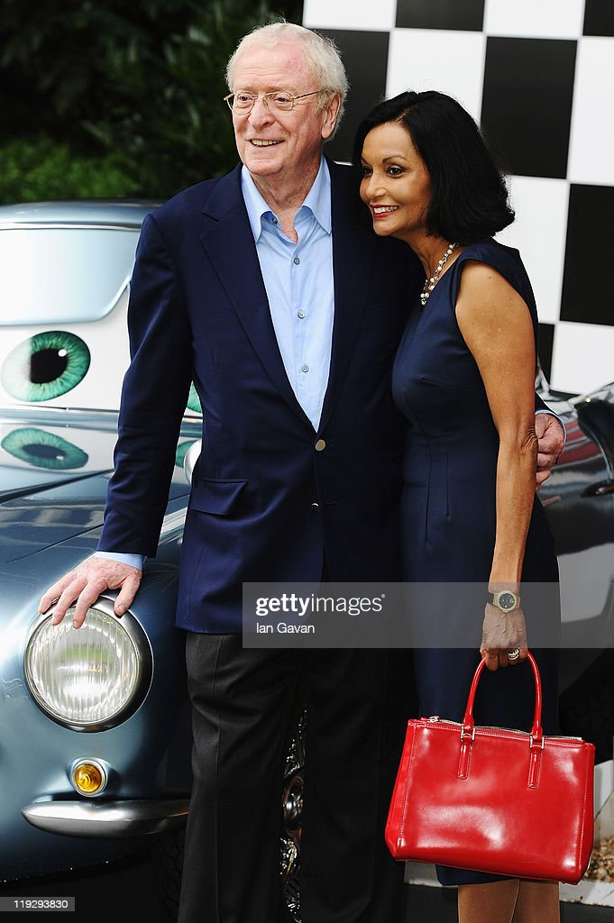 Actor Sir <a gi-track='captionPersonalityLinkClicked' href=/galleries/search?phrase=Michael+Caine+-+Actor&family=editorial&specificpeople=159746 ng-click='$event.stopPropagation()'>Michael Caine</a> and his wife Shakira attend the pre-party before the UK Film Premiere of Cars 2 in Whitehall Gardens on July 17, 2011 in London, England.