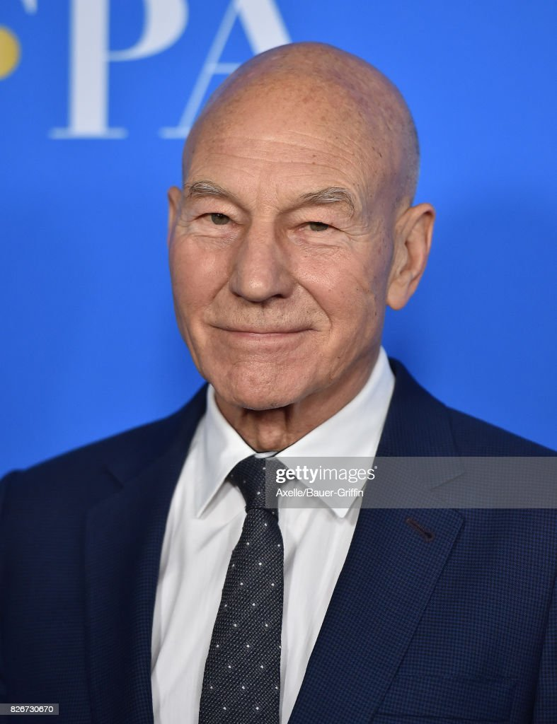 Actor Sir Patrick Stewart arrives at the Hollywood Foreign Press Association's Grants Banquet at the Beverly Wilshire Four Seasons Hotel on August 2, 2017 in Beverly Hills, California.