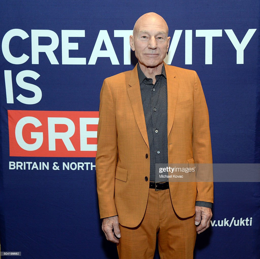 Actor Sir Patrick Stewart attends the BAFTA Los Angeles Awards Season Tea at Four Seasons Hotel Los Angeles at Beverly Hills on January 9, 2016 in Los Angeles, California.