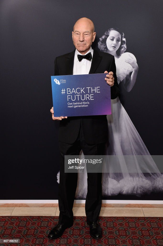 Actor Sir Patrick Stewart attends the BFI Luminous Fundraising Gala at The Guildhall on October 3, 2017 in London, England.