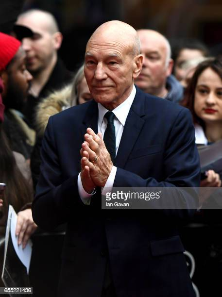 Actor Sir Patrick Stewart attends the THREE Empire awards at The Roundhouse on March 19 2017 in London England