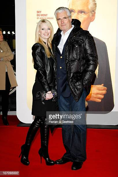Actor Sky du Mont and wife Mirja du Mont attend the premiere of 'Otto's Eleven' at CineStar at Sony Center on November 23 2010 in Berlin Germany