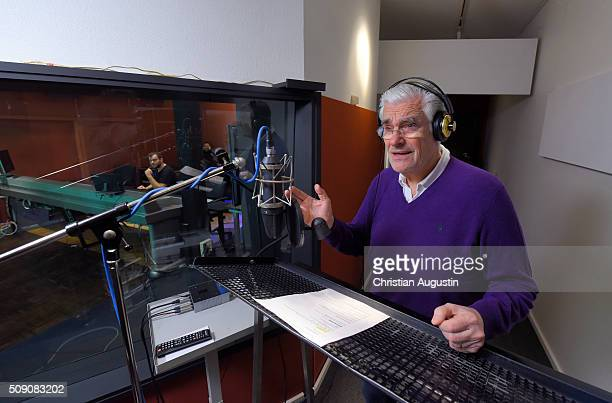 Actor Sky du Mont is seen during the recording of his voice as German serial killer Carl Grossmann for the Berlin Dungeon on February 8 2016 in...