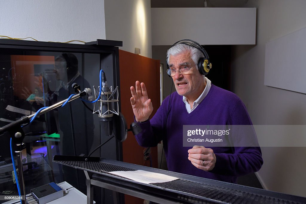 Actor Sky du Mont is seen during the recording of his voice as German serial killer Carl Grossmann (1863 -1922) for the Berlin Dungeon on February 8, 2016 in Hamburg, Germany.