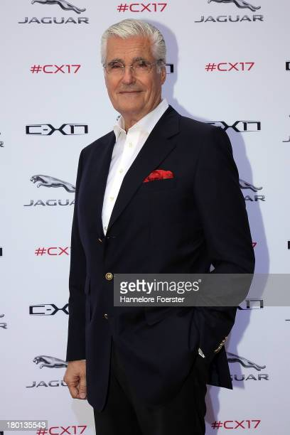 Actor Sky Dumont attends the Jaguar world premiere of a crossover concept CX 17 presentation on September 9 2013 in Frankfurt am Main Germany
