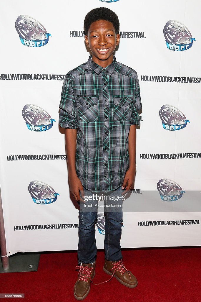 Actor <a gi-track='captionPersonalityLinkClicked' href=/galleries/search?phrase=Skylan+Brooks&family=editorial&specificpeople=7766166 ng-click='$event.stopPropagation()'>Skylan Brooks</a> attends the closing night for the Hollywood Black Film Festival (HBFF) at The Ricardo Montalban Theatre on October 6, 2013 in Hollywood, California.
