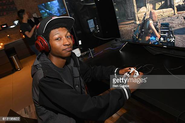 Actor Skylan Brooks attends the Xbox Gears Of War 4 New York launch event at The Microsoft Loft on October 7 2016 in New York City
