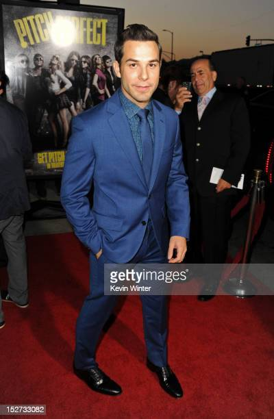 Actor Skylar Astin arrives at the premiere of Universal Pictures And Gold Circle Films' 'Pitch Perfect' at ArcLight Cinemas on September 24 2012 in...